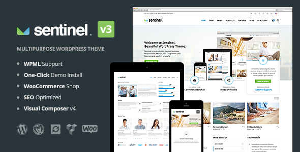 Sentinel - Responsive Multi-Purpose Theme - Business Corporate