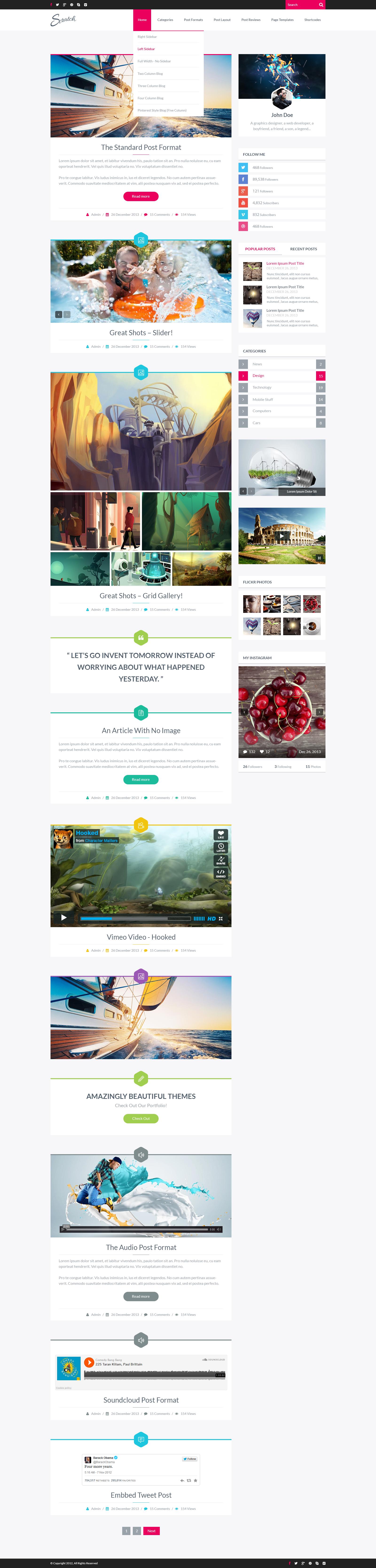 Scratch - PSD Blog Template