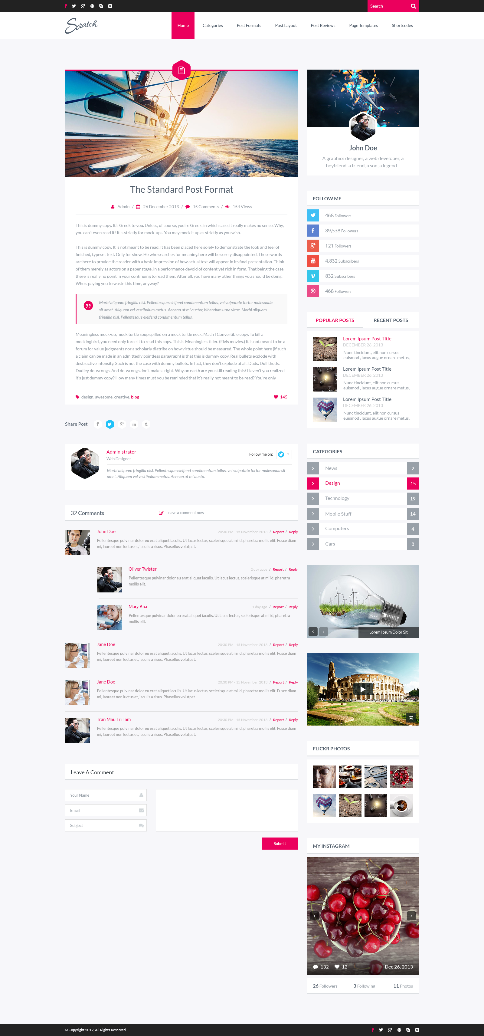 Scratch - PSD Blog Template