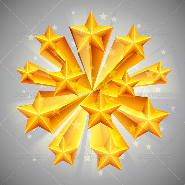GraphicRiver Golden Stars 8540386