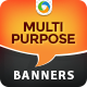 Multi Purpose Banner Ads - GraphicRiver Item for Sale