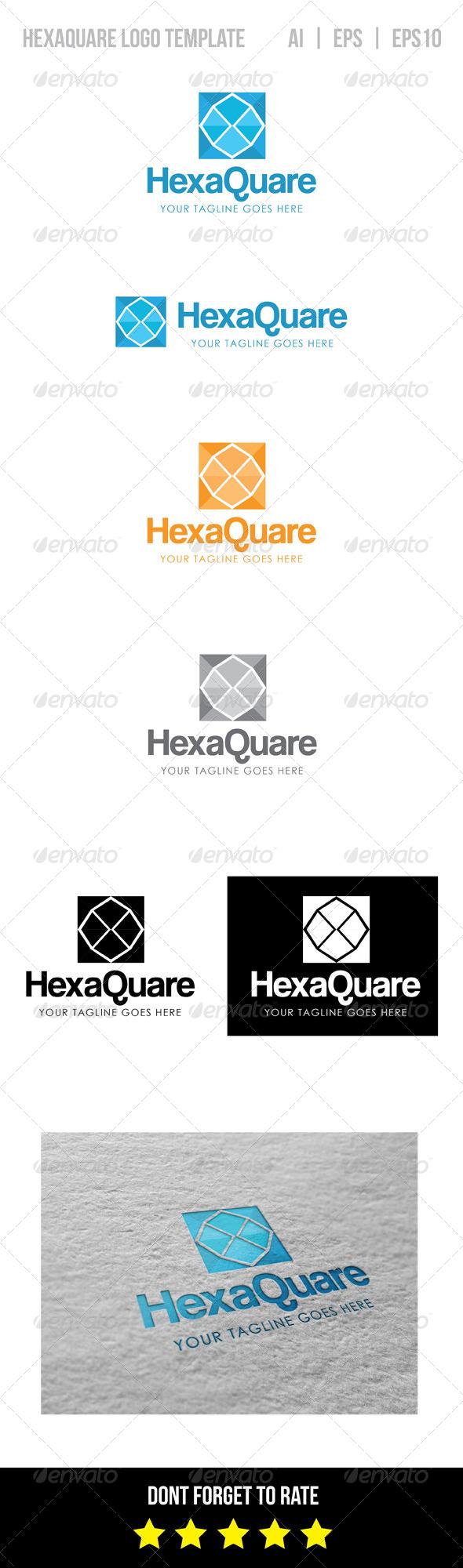 GraphicRiver Hexaquare Logo Template 8540565
