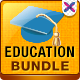 Education Banners Bundle - 3 Sets - GraphicRiver Item for Sale