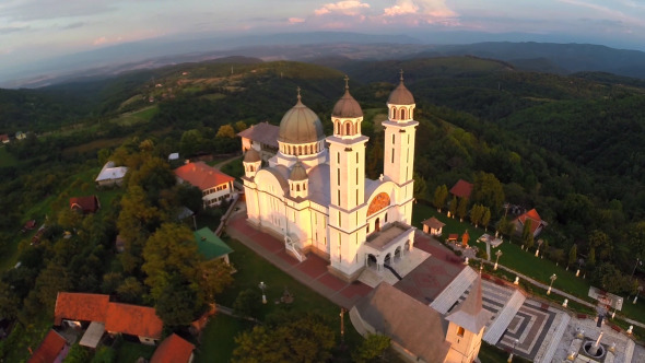 Aerial View Of Orthodox Church 7