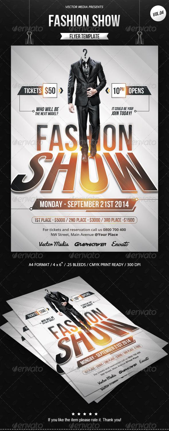 GraphicRiver Fashion Show Flyer [Vol.04] 8540784