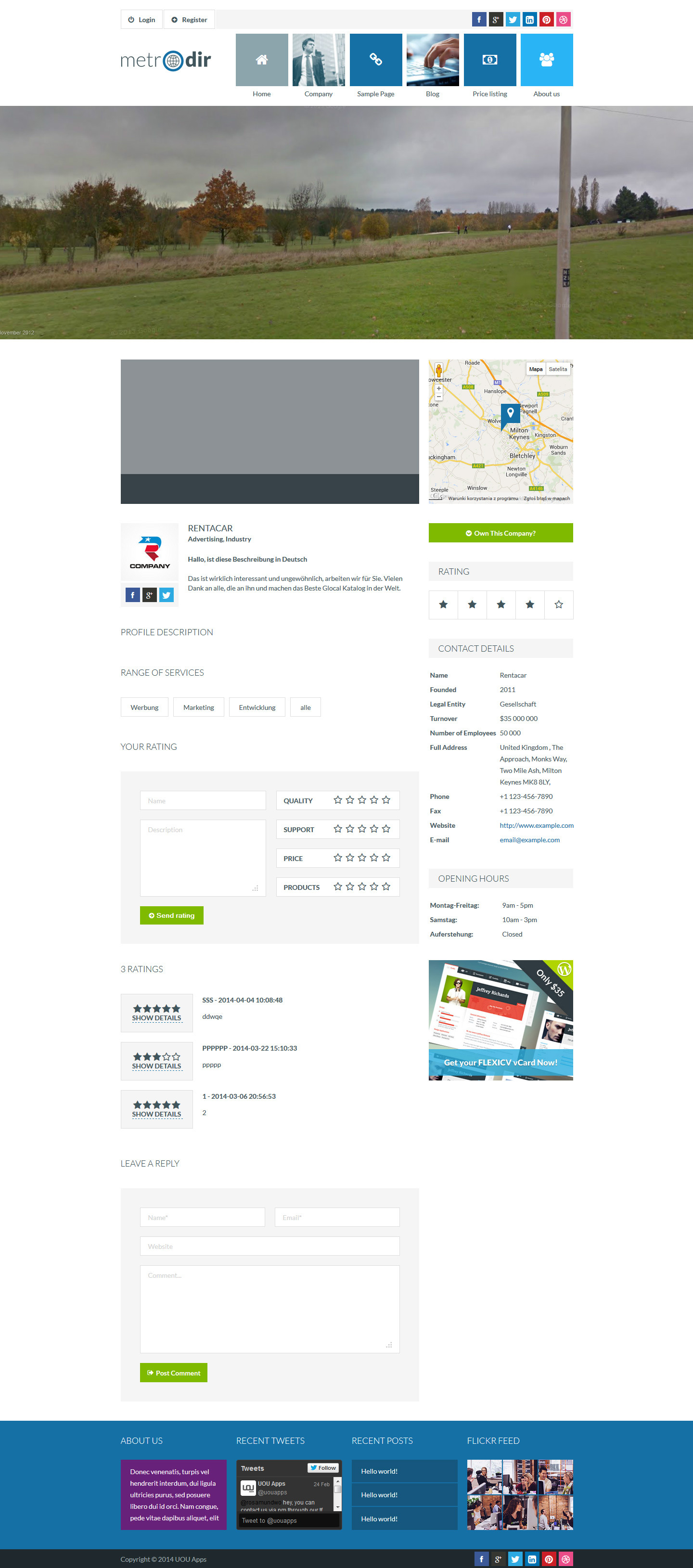 Metrodir - Directory & Listings WordPress Theme