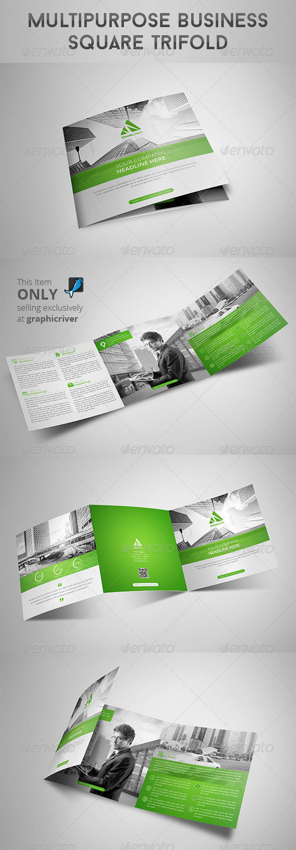 GraphicRiver Multipurpose Business Square Trifold 8541132