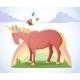 Cartoon Magic Unicorn  - GraphicRiver Item for Sale