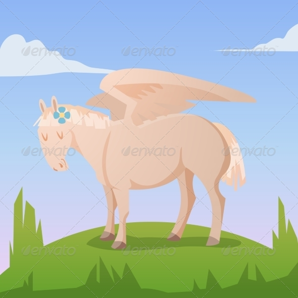 GraphicRiver Cartoon Magic Pegasus 8541172