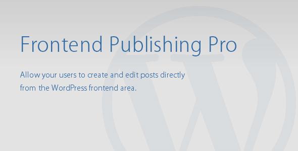 CodeCanyon Frontend Publishing Pro 8517990