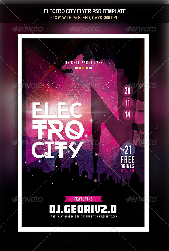 GraphicRiver Electro City Flyer 3 8541254