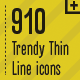 600 Trendy Thin Line Icons - GraphicRiver Item for Sale