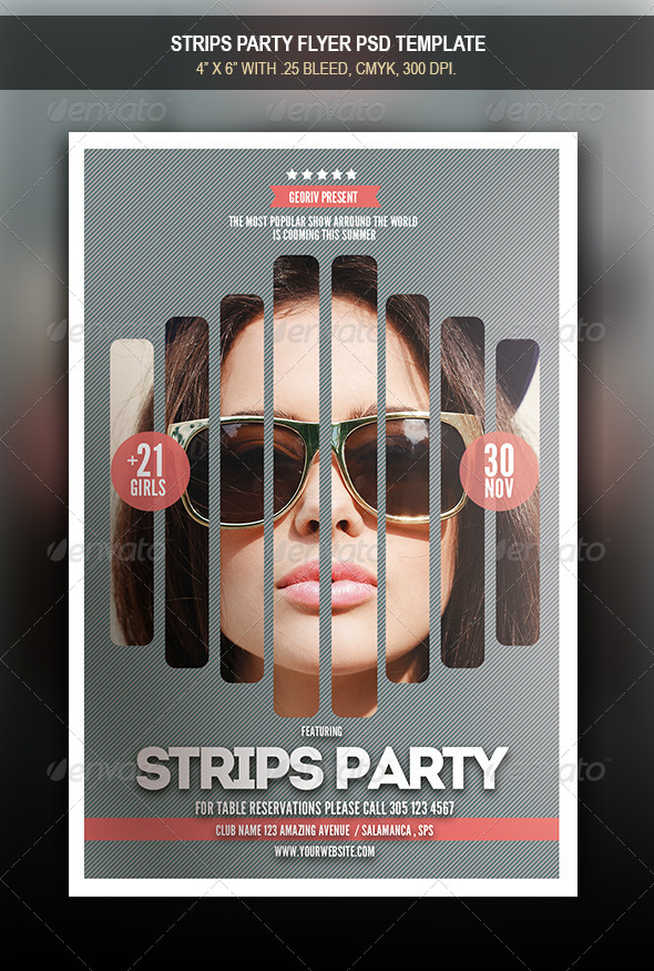 GraphicRiver Strips Party Flyer 8541459