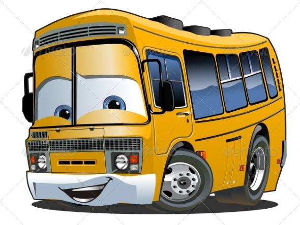 GraphicRiver Cartoon School Bus 8541644