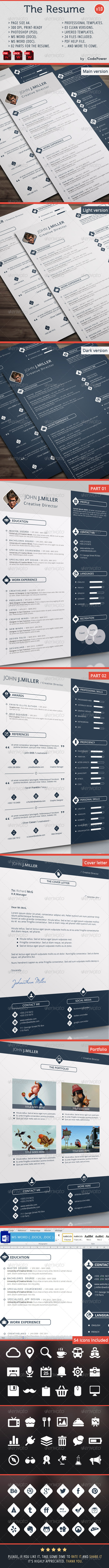 GraphicRiver The Resume 8541648