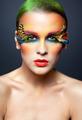 Woman with false feather eyelashes makeup - PhotoDune Item for Sale
