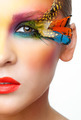 Woman with false feather eyelashes makeup - PhotoDune Item for Sale