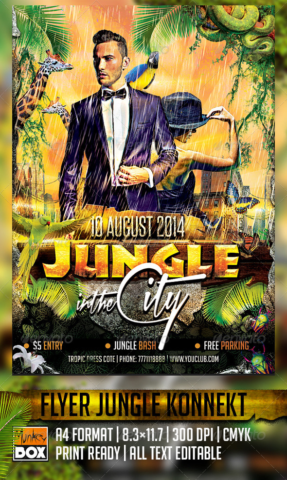 GraphicRiver Flyer Jungle in the City Konnekt 8540160