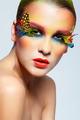 Woman with fashion feather eyelashes make-up - PhotoDune Item for Sale