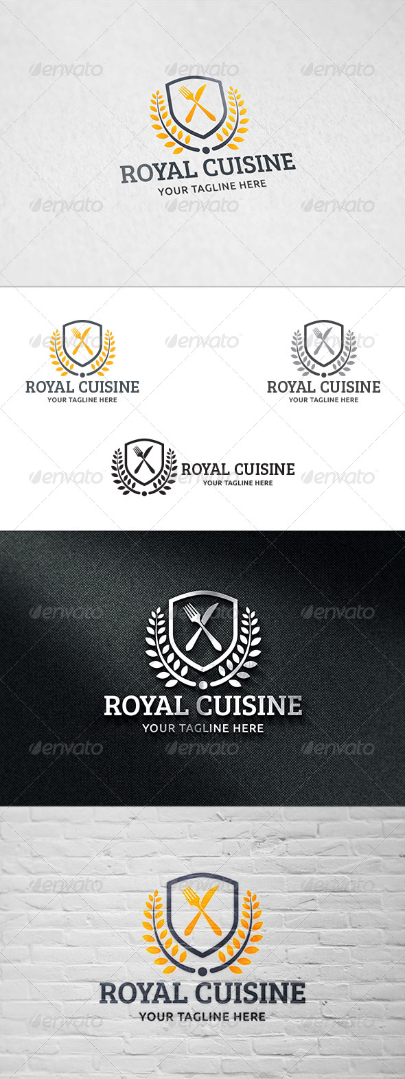GraphicRiver Royal Cuisine Logo Template 8541774