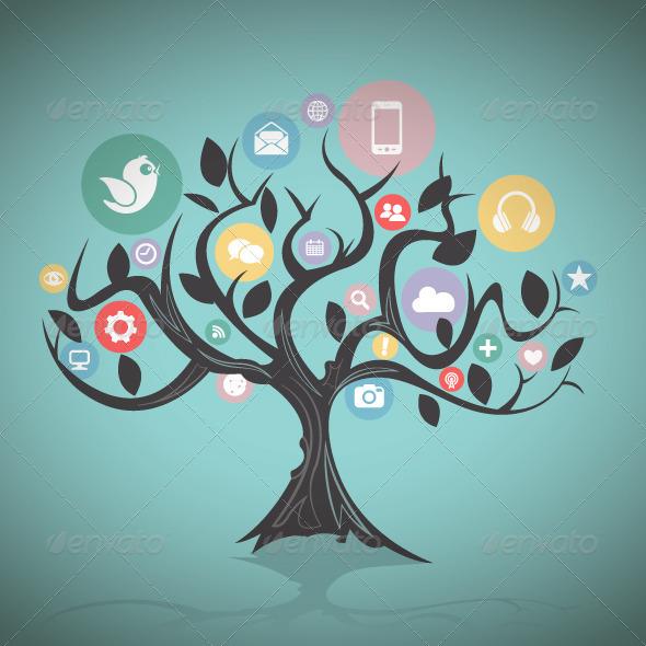 GraphicRiver Social Media Tree 8541839