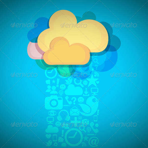 GraphicRiver Social Media Cloud Connection 8541924