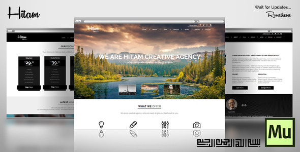 ThemeForest Hitam Onepage Muse Template 8468831