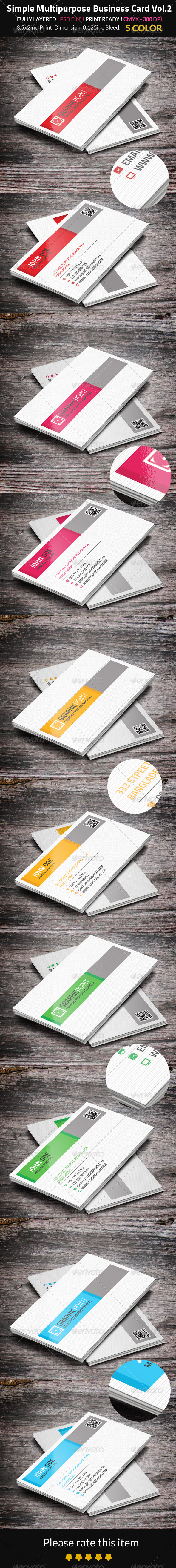 GraphicRiver Simple Multipurpose Business Card Vol.2 8541943
