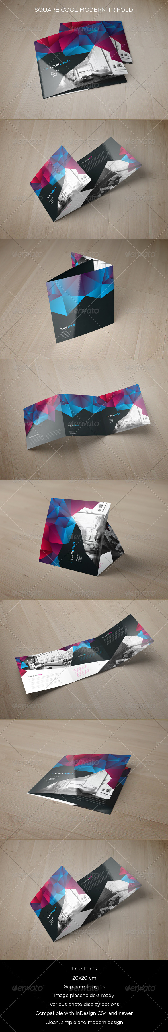 GraphicRiver Square Cool Modern Trifold 8541981