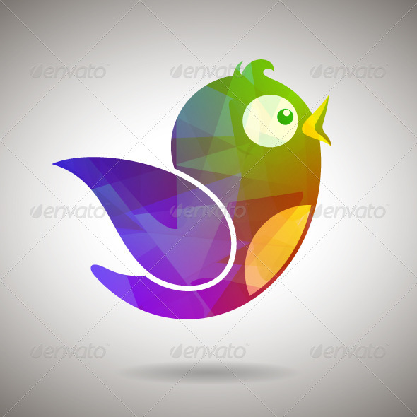 GraphicRiver Gem Social Media Bird 8541986