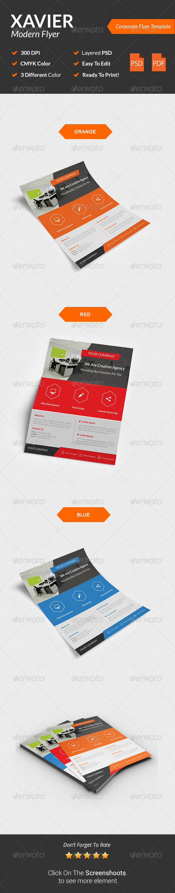 GraphicRiver Xavier Modern Corporate Flyer 8542020