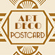 Wedding Save the Date Post Card - Art Deco 02 - GraphicRiver Item for Sale