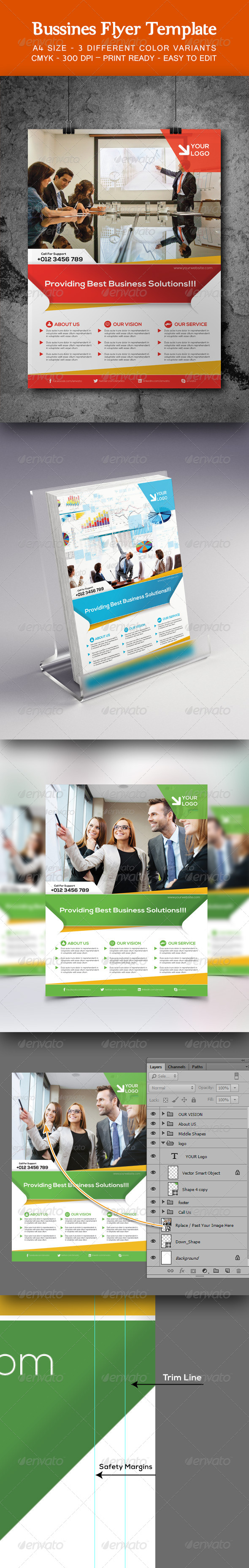 GraphicRiver Bussines Flyer Template 8542252