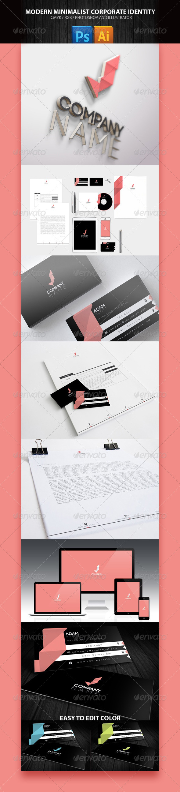 GraphicRiver Business Corporate Pack Minimal 8407040