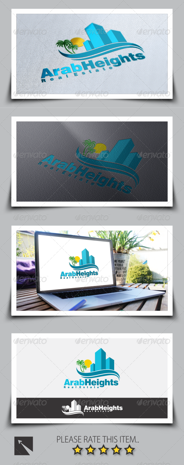 GraphicRiver Real Estate Building Logo Template 8542349
