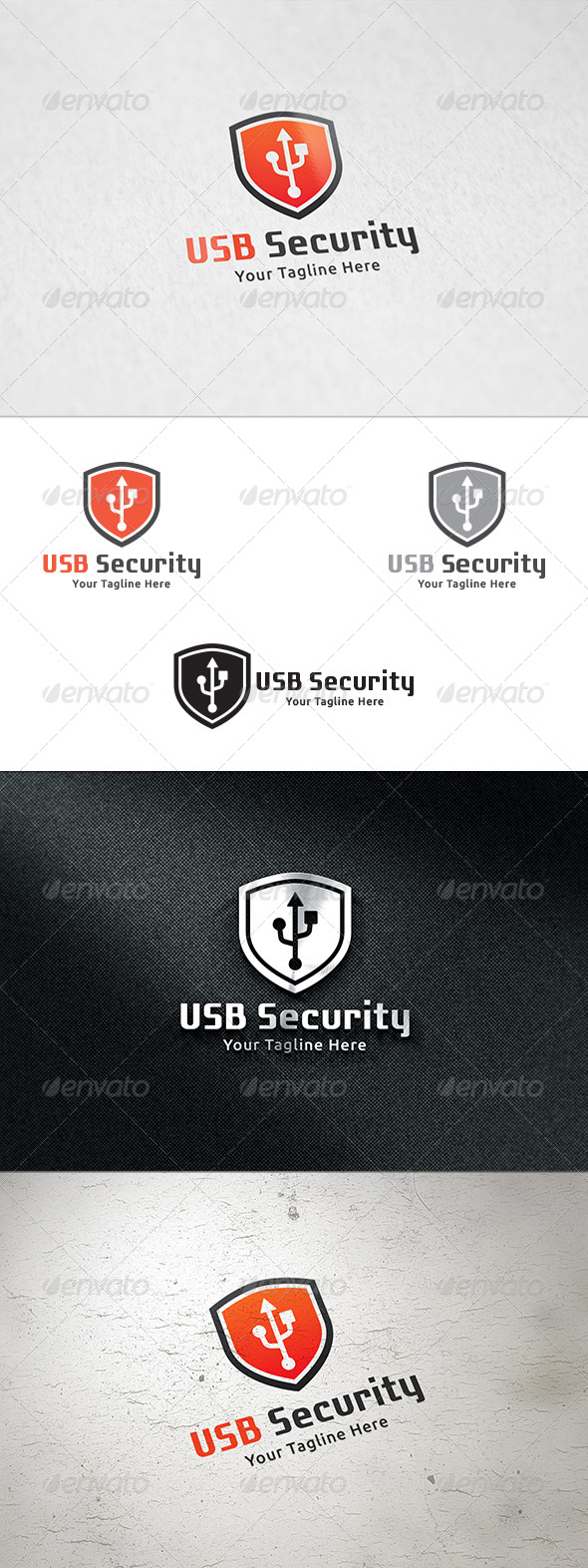 GraphicRiver USB Security Logo Template 8542715