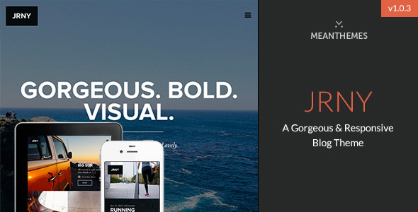 ThemeForest JRNY A Gorgeous & Responsive WordPress Blog Theme 8474742