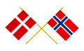 Flags of Denmark and Norway, 3d Render, Isolated on White - PhotoDune Item for Sale