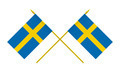 Two Crossed Flags of Sweden, 3d Render, Isolated on White - PhotoDune Item for Sale