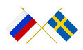 Flags of Sweden and Russia, 3d Render, Isolated on White - PhotoDune Item for Sale