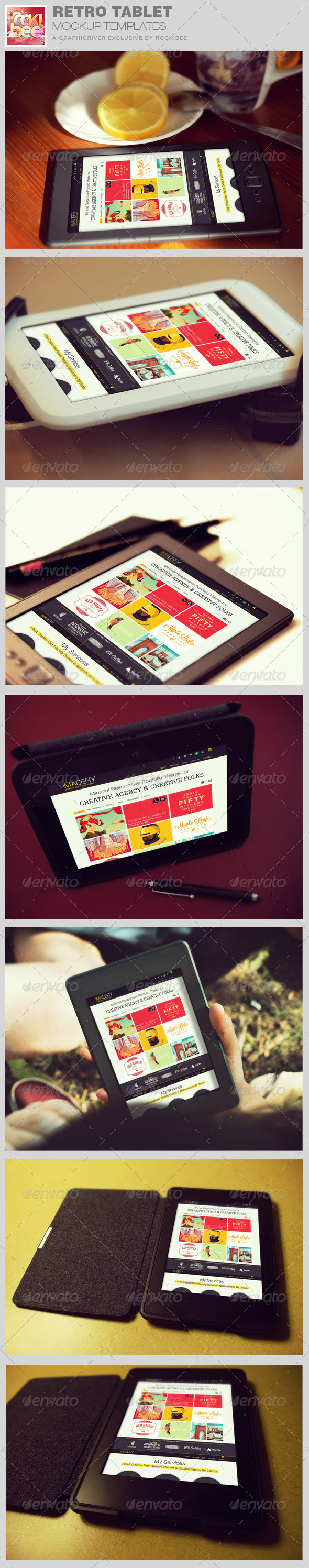 GraphicRiver Retro Tablet Mockup Templates 8542939