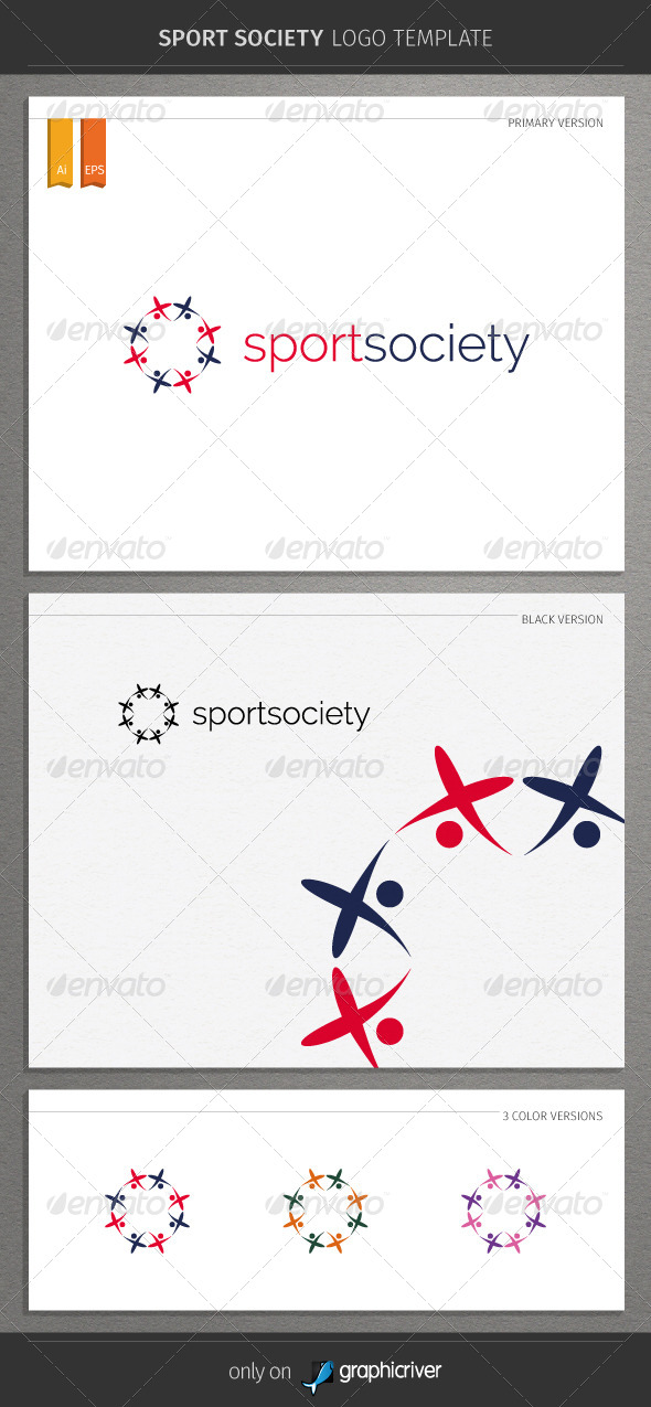 GraphicRiver Sport Society Logo Template 8542985