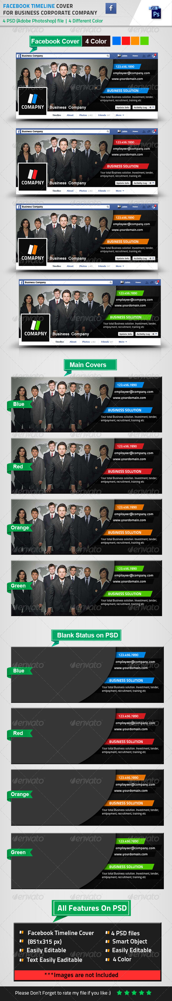 GraphicRiver Facebook Timeline Cover for Business 8542989