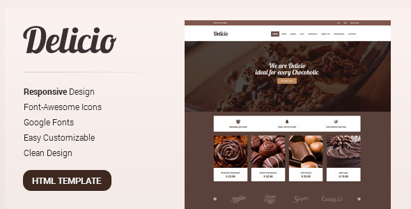 ThemeForest Delicio Bakery & Food eCommerce HTML Template 8542994