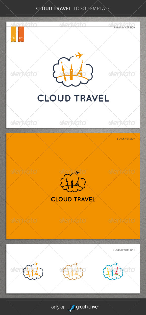 GraphicRiver Cloud Travel Logo 8543003