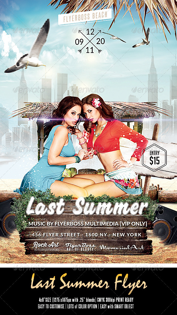 GraphicRiver Last Summer Flyer 8543014