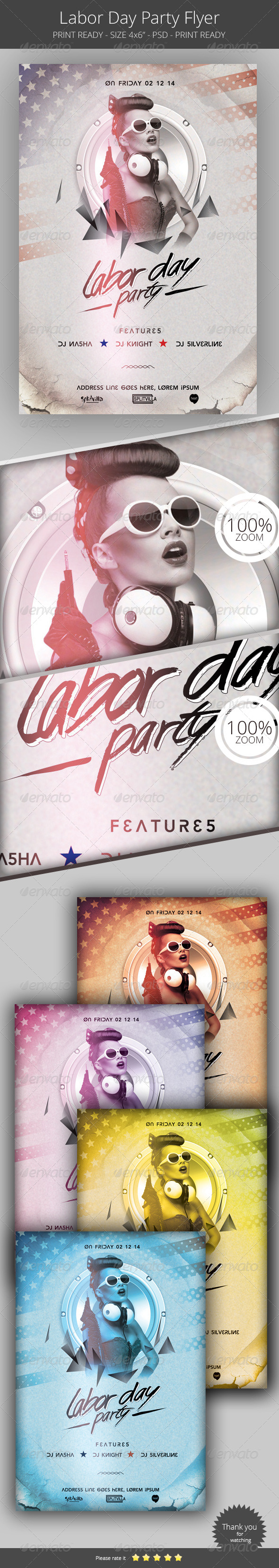 GraphicRiver Labor Day Flyer Template 8543055