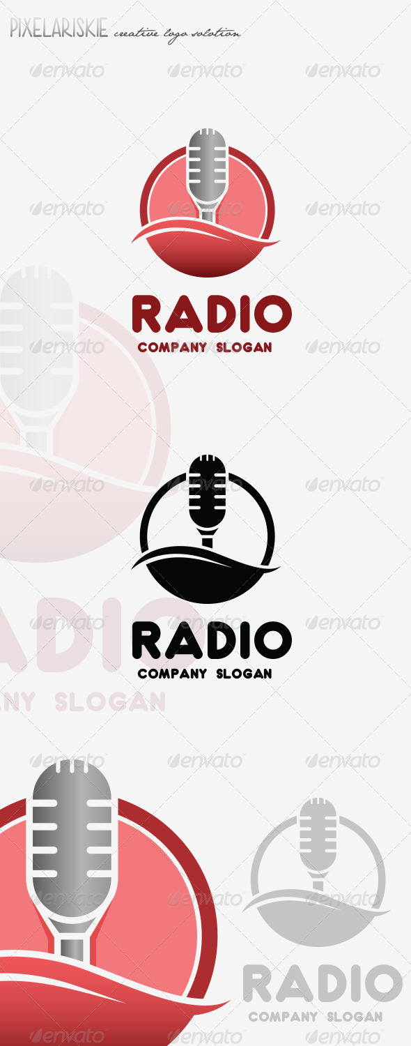 GraphicRiver Radio Mic Logo 8536414