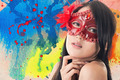 beautiful woman in a carnival mask - PhotoDune Item for Sale