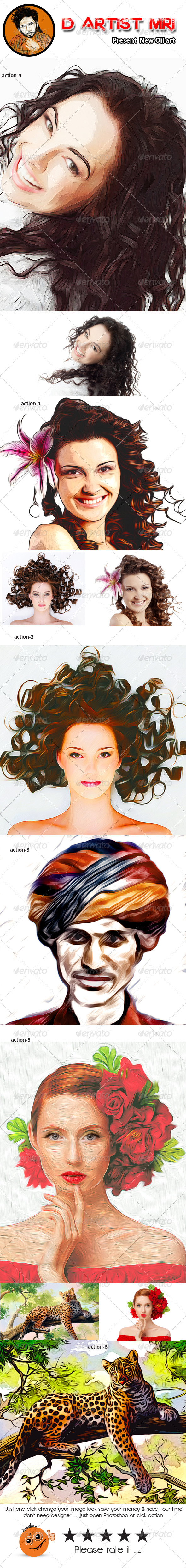 GraphicRiver New Oil Art Action 8543314